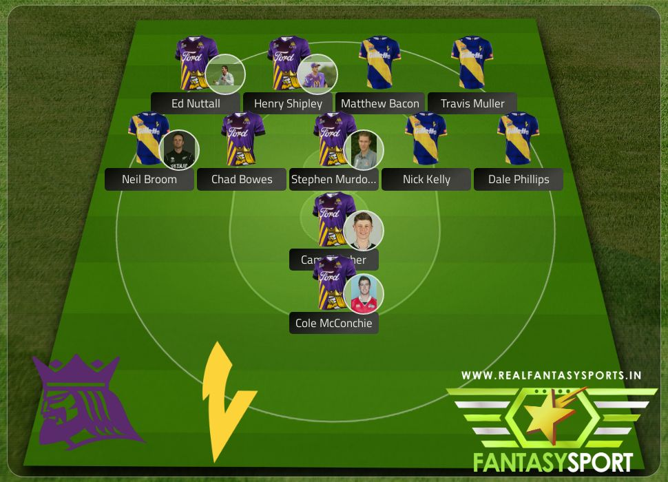 Canterbury Kings vs Otago Volts with Dream team originally selected by Abdul-GhafoorONV Dale Phillips
