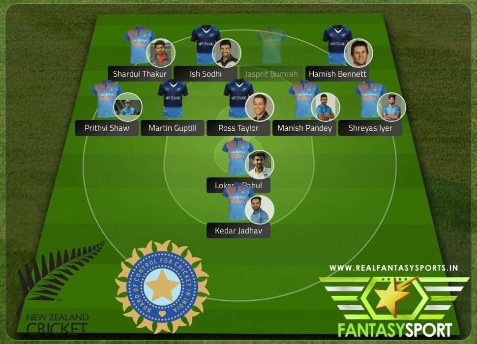 Cricket New Zealand India Dream Eleven Team 11th February 2020