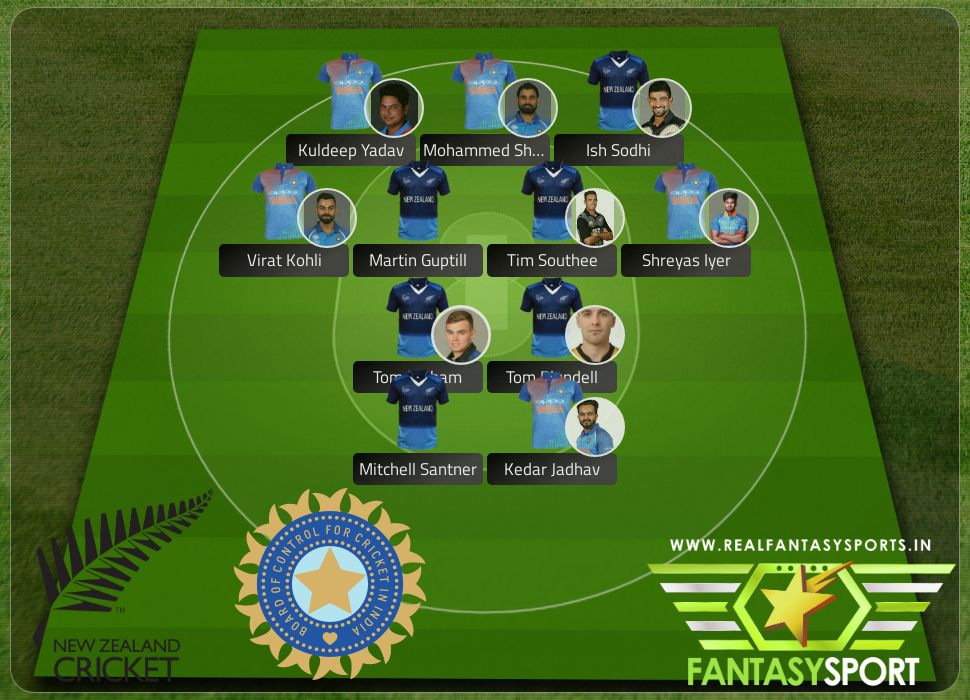 Cricket New Zealand Vs India With Draft Kings Prediction Tim Southee