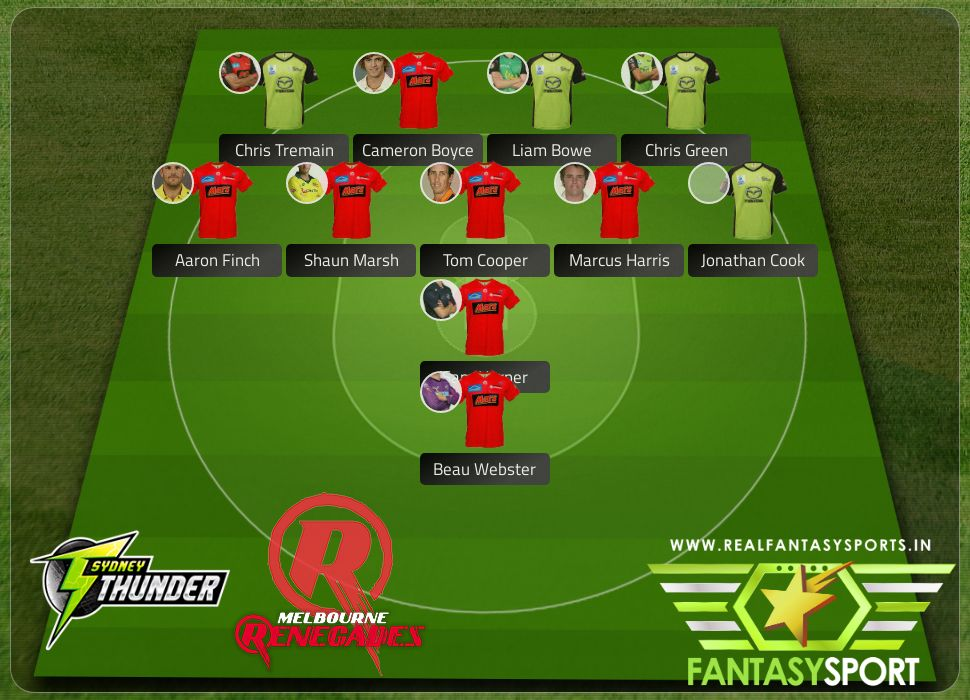 Sydney Thunder vs Melbourne Renegades with Dream eleven team Jonathan Cook