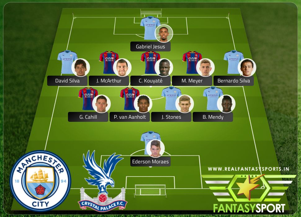 Manchester City Crystal Palace Real Fantasy Sports recommendation 18th January 2020