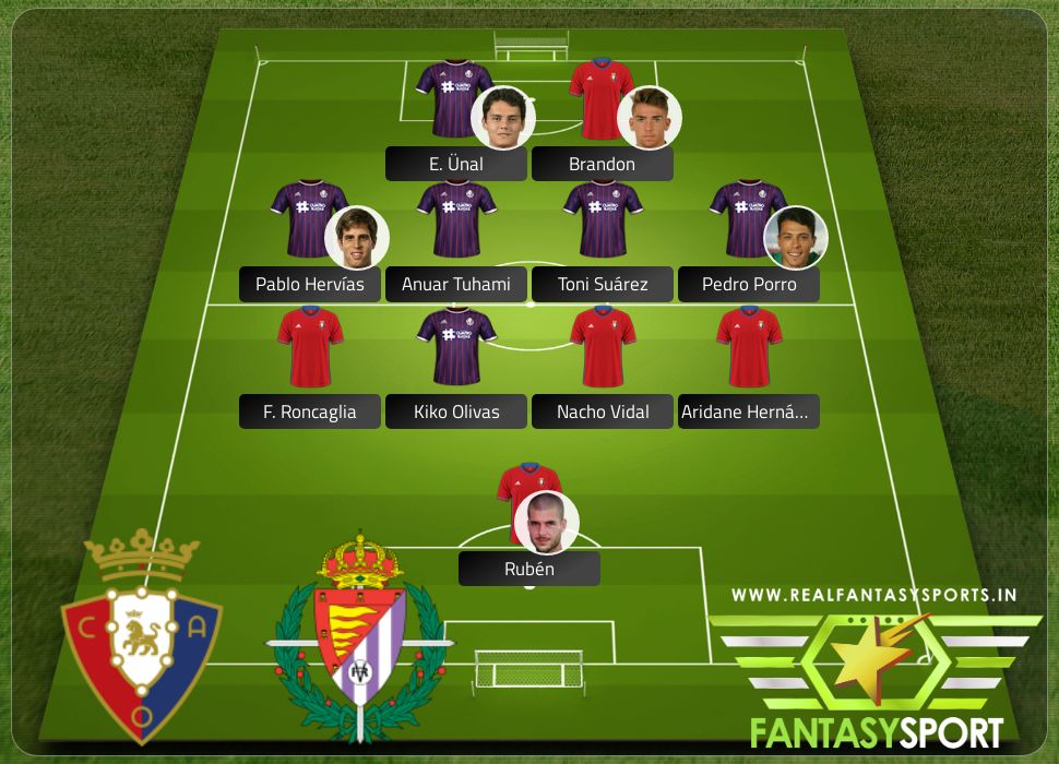 Osasuna vs Real Valladolid with Dream11 team selection Toni Suárez