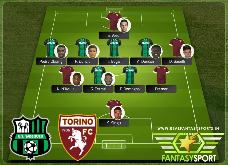 Sassuolo vs Torino pick Shared team pick Pedro Obiang