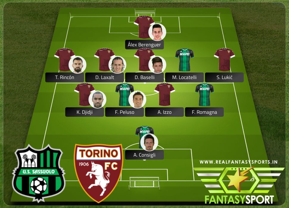 Sassuolo vs Torino Shared dream11 team selection 2020