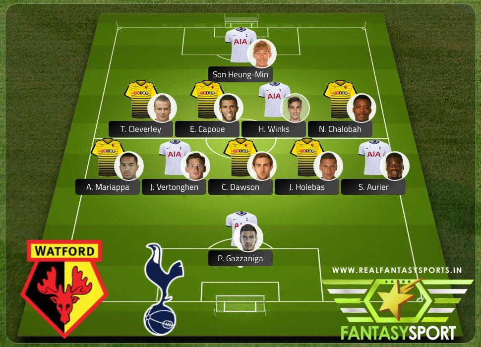 Watford vs Tottenham Hotspur Real Fantasy Sports recommendation 18th January 2020